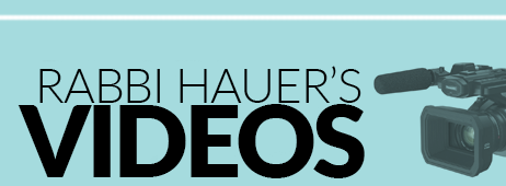 Rabbi Hauer Articles