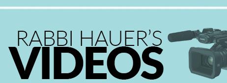 Rabbi Hauer Articles